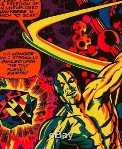 Rare 1971 Marvel Comics SILVER SURFER Black Light Poster by Third Eye TE4005 NM