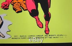 Rare 1971 Marvel Third Eye Blacklight Store Display Poster 25 x 19.25 A005