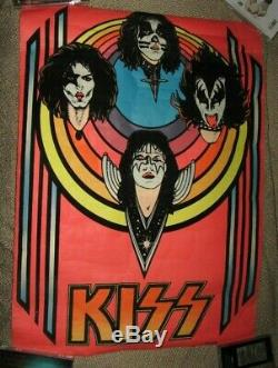 Rare 1976 Kiss Blacklight Velvet Poster Aucoin