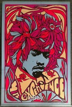 Rare Jimi Hendrix Blacklight Poster Pandora 1967