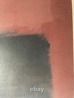 Rare MARK ROTHKO 1957 Light Red Over Black Lithograph Print Tate Gallery UK