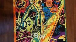 Rare Marvel Silver Surfer Black Light Poster 1971 Third Eye Jack Kirby
