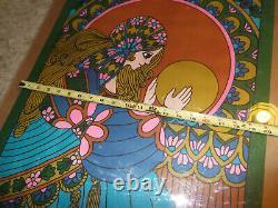 Rare Original 1960s Fortune Teller Crystal Ball Tarot Card Art Poster Signed