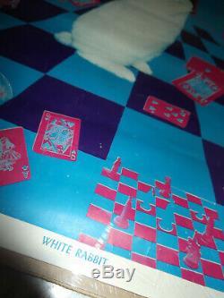 Rare Original 1960s White Rabbit Keep Your Head Dayglow Blacklight Orbit Poster