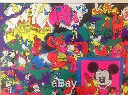 Rare Original 1970s'Disneyland Memorial Orgy' Blacklight Poster by Wally Wood