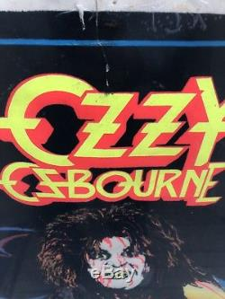 Rare Ozzy Ozbourne Diary Of A Madman Blacklight Poster Vintage