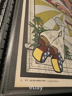 Rare Vintage 1970 Saladin Productions Rapid Transit Blacklight Poster-Petagno
