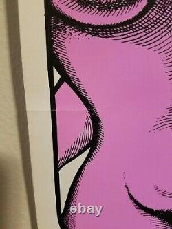 Rare Vintage 70's Blacklight Poster God is Love Israeli Artist Asker Ein-Dor