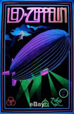 Rare Vintage Led Zeppelin Blacklight Poster