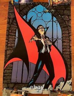 Rare Vintage & Original Dracula Felt Black Light Poster 1979 Pro Arts Blacklight