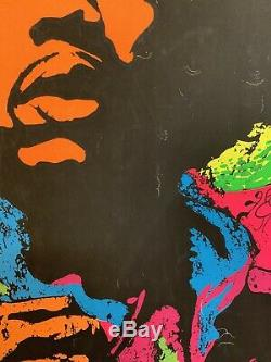 Rare Vtg 1967 Jimi Hendrix Blacklight Poster Joe Roberts Jr Psychedelic rockstar