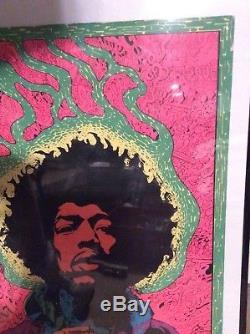 Rare vintage Jimi Hendrix black light poster