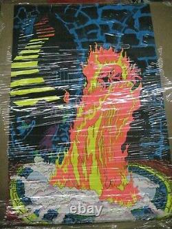 Rege Satan Lucifer 1970 black light poster vintage psychedelic Rare C187