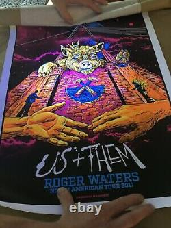 Roger Waters Us and Them Concert Poster 2017 Pink Floyd Black Light Print #171