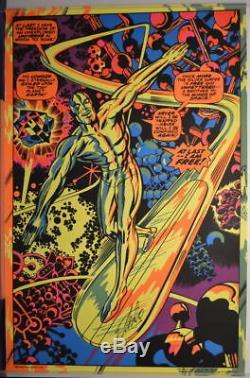SILVER SURFER THIRD EYE BLACKLIGHT POSTER 1971 Rare Marvel SIGNED STAN LEE