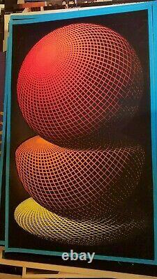 SPHERES 1968 68 VINTAGE BLACKLIGHT NOS CASEY POSTER By M. C. ESCHER -NICE