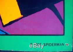 SPIDERMAN THWIPP MARVEL THIRD EYE Black light poster TE 4016 Gil Kane