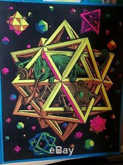 STARS 1968 68 VINTAGE BLACKLIGHT NOS J. CASEY POSTER By M. C. ESCHER -NICE