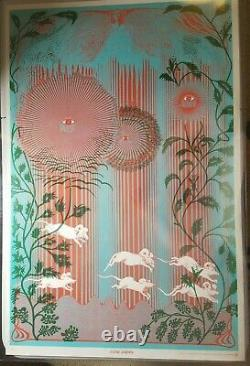 STONE GARDEN EAST TOTEM WEST 1971 VINTAGE PSYCHEDELIC BLACKLIGHT POSTER By Satty