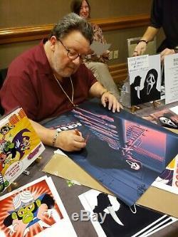 Scream Movie Poster Screen Print Blacklight 18x24 Auto'd by 7 of Actors Mondo