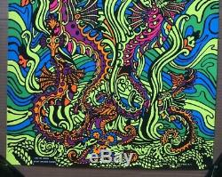 Sea Horses Original Vintage Blacklight Poster Third Eye Inc 1970 Macbeth 1970s