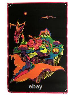 Season Of The Witch Vintage Blacklight Poster Occult 60s Walotsky Donovan Music