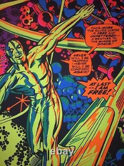 Silver Surfer Blacklight Poster Signed by Stan Lee Excellent Condition with COA