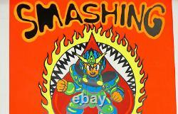 Smashing Pumpkins VERY RARE Black Light Poster 4/23/1994 Michigan 19 x 26 Poster