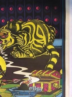 Sorcerer the Cat Vintage Blacklight Poster Psychedelic Pin-up Petagno Saladin