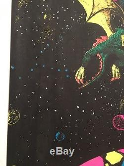 Space Argonauts Vintage Blacklight Poster Pin-up Psychedelic Astronauts Space