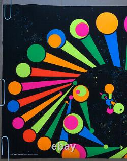 Space Station Original Vintage Blacklight Poster Third Eye Outer space 1960s