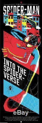 Spider-Man Into The Spider Verse Mask Danny Haas Poster Blacklight 12x36 Mondo