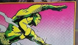 Spiderman & Namor 1971 Vintage Marvel Comics Blacklight Poster The Third Eye
