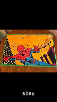 Spiderman The Third Eye Blacklight Poster #4016. 1971 Marvel Poster Spider-man