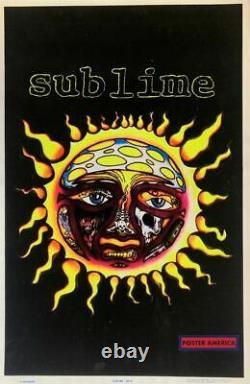 Sublime 1998 Vintage Black Light Poster 23 x 35