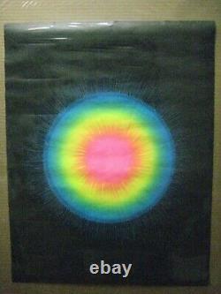 Sun Burst Vintage Black Light Poster 1960's Psychedelic Inv#G4777