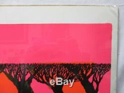 Sunset Black Light Vintage Poster 1970's Spychedelic Cng519