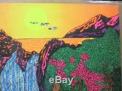 Super Eden Adam Eve Black Light Poster 1971 Large love paradise Inv#G2737
