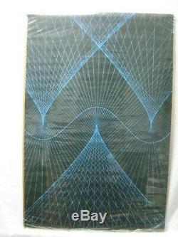 Synthwave Black Light Vintage Poster 1960's Psychedelic Cng983