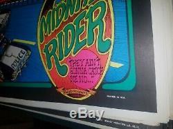 THE MIDNITE RIDER MARIJUANA 1973 VINTAGE BLACKLIGHT NOS By BILL HOORMAN 420 N/M