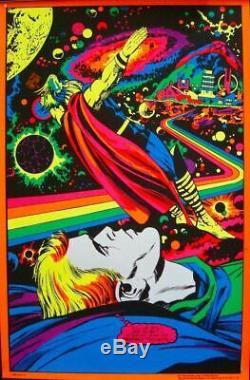 THOR ASTRAL THOR ASGARD MARVEL THIRD EYE Black light poster TE4006 JACK KIRBY NM