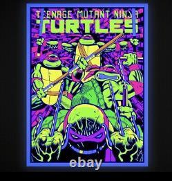 Teenage Mutant Ninja Turtles Underground Hand Pulled Black Light Screen print