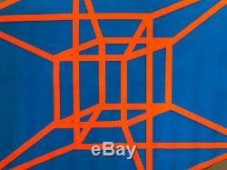 Tesseracy Original Vintage Blacklight Poster Third Eye Leonard Perry 1969 Pinup