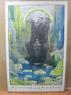The Ancient Mariner ship Vintage Black Light vintage Poster 1970's Inv#G3811
