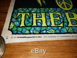 The Band Original Vintage Blacklight Poster 1970s Music Pin-up Beeghly