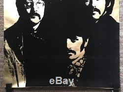 The Beatles Blacklight Original vintage poster Flocked Velvet 60s Music Pin-up