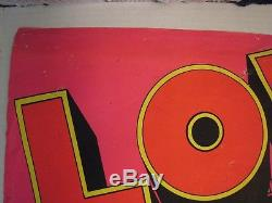 The Beatles Vintage Blacklight Poster Dan Shupe Original Not a reprint or