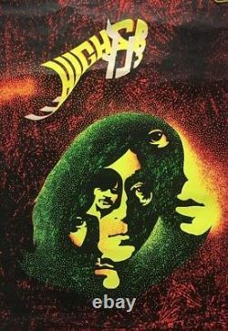 The Beatles Vintage Blacklight Poster Higher Self Original Retro Pin- Up 1960's