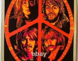 The Beatles original vintage black light poster psychedelic Beeghley pin-up 60's
