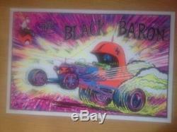 The Black Baron Original 1970s Black Light Poster 23 x 35